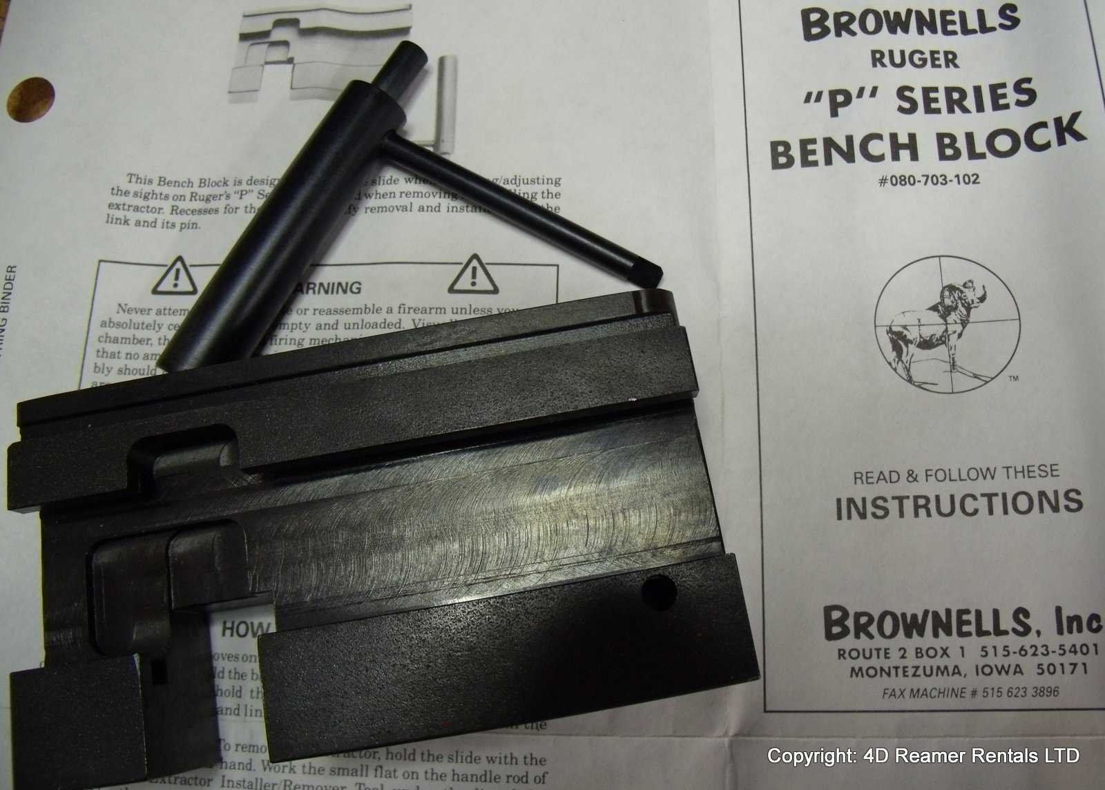 Ruger P series Bench Block